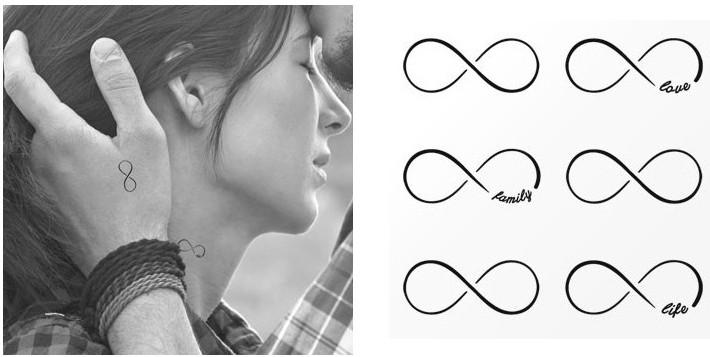 tatouage temporaire symbole infini