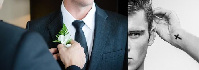 Tatouages temporaires pour Homme spécial mariage